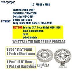 11.5 Brake Rotor Front & Rear Rotors Disc For Harley Touring Super Spoke SS