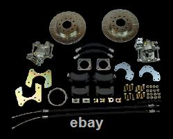 1968-1972 Chevelle gto rear disc brake conversion with parking brake d&s rotors