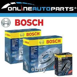 2 Genuine Bosch Rear Disc Rotors + Brake Pads Commodore VT VX VU VY VZ V6 + V8