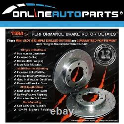 2 Rear Slotted + Drilled Disc Rotors + Brake Pads Commodore VG VN VP VR VS 88-00