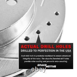 Brake Rotors + Brake Pads For Nissan Altima Front Rear Slotted Rotor Pad Brakes