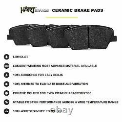 FRONT+REAR KIT Black Hart DRILLED & SLOTTED Brake Rotors +Ceramic Pads C2450