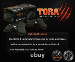 FULL SET Front & Rear Disc Rotors + Brake Pads Kit Ford Falcon BA BF FG 2002-16