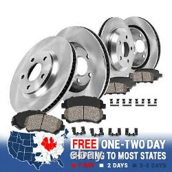 For 2002 2003 2004 2005 DODGE RAM 1500 2WD 4WD Front Rear Rotors Ceramic Pads