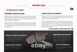 For 2002 2004 2005 Dodge Ram 1500 Front+Rear Drilled Brake Rotors Ceramic Pads