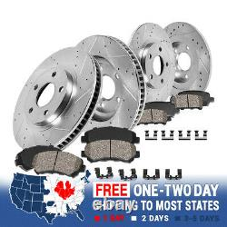For 2013 2017 Ford Fusion Lincoln MKZ Front+Rear Brake Rotors & Ceramic Pads