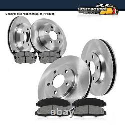 For Chevy Impala Monte Carlo LS LT LTZ SS Front+Rear Brake Rotors Metallic Pads