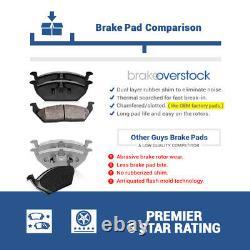 For Hyundai Sonata Kia Optima Front And Rear Rotors & Ceramic Brake Pads