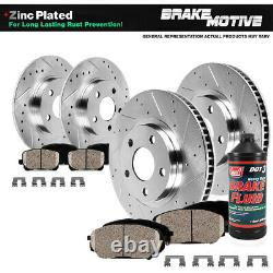 For Lexus GS300 GS400 GS430 IS300 Front Rear DRILLED Brake Rotors + Ceramic Pads