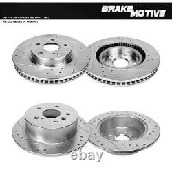 Front And Rear Brake Rotors For 2012 2013 2014 2016 Toyota Camry Avalon ES350