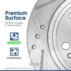 Front And Rear Drill Slot Brake Rotors & Ceramic Pads For 2004 2013 Mazda 3