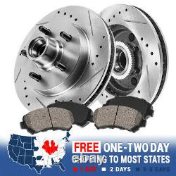 Front Drill And Slot Brake Rotors & Ceramic Brake Pads For Chevy GMC