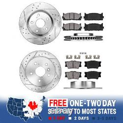Front+Rear Brake Rotors And Ceramic Pads For Lexus ES350 Toyota Avalon Camry