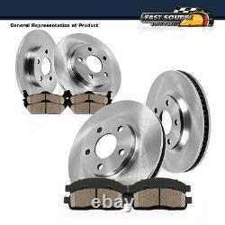 Front + Rear Brake Rotors Ceramic Pads For 2001 2002 2007 Town Country Caravan