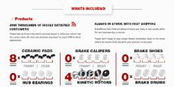Front+Rear Brake Rotors +Ceramic Pads For 2002 2003 2004 2005 2006 Nissan Altima