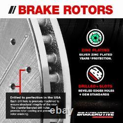 Front+Rear Brake Rotors + Ceramic Pads For 2005 2006 2007 2008 2010 Scion TC