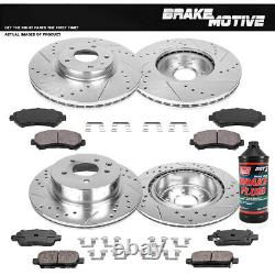 Front+Rear Brake Rotors Ceramic Pads For 2009 2010 2011 2012 -2017 Nissan Maxima