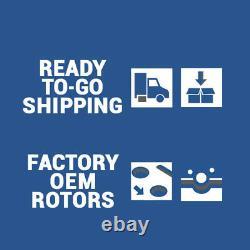 Front+Rear Brake Rotors & Ceramic Pads For 2010 2017 Chevy Equinox GMC Terrain