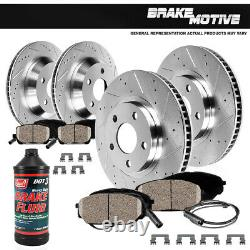 Front + Rear Drill And Slot Brake Rotors & Ceramic Pads For 2006 BMW 325i E90