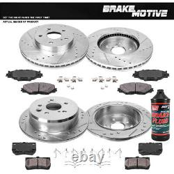 Front+Rear Drill Slot Brake Rotors And Ceramic Pads For 2006 2012 Lexus IS250