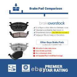 Front & Rear Drill Slot Brake Rotors & Ceramic Pads For 2008 -2012 2013 BMW 328i