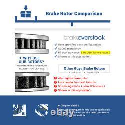Front+Rear Drill Slot Brake Rotors & Ceramic Pads For Acura Integra Honda Civic