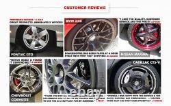 Front+Rear Drill Slot Brake Rotors +Ceramic Pads For Chevy Malibu Cobalt Saturn