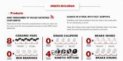 Front+Rear Drill Slot Brake Rotors +Ceramic Pads For Chevy Silverado Escalade