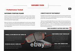 Front+Rear Drill Slot Brake Rotors & Ceramic Pads For Hyundai Sonata Kia Optima