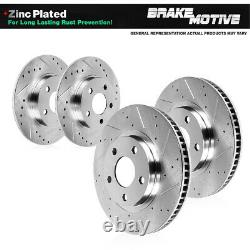 Front+Rear Drill Slot Brake Rotors For 2004 2005 2006 2007 2008 Acura TL Type S