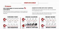 Front + Rear Drill Slot Brake Rotors For Escalade Express Tahoe Suburban Yukon