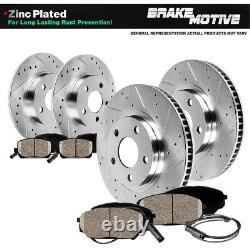 Front + Rear Drill Slot Brake Rotors and Ceramic Pads For VW Beetle Golf Jetta