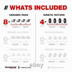Front+Rear Drilled Brake Rotors Ceramic Pads For 2012 2013 2014 2015 Honda Pilot