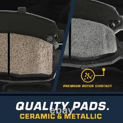 Front+Rear Rotors Metallic Pads For Escalade Chevy Silverado Tahoe GMC Sierra