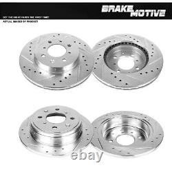 Front and Rear Drilled Slotted Brake Disc Rotors For Honda Civic Acura Integra