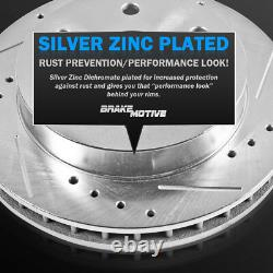 Front and Rear Drilled & Slotted Rotors Ceramic Brake Pads 2010 2011 Ford F-150