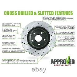 Front and Rear Kit Drilled & Slotted Brake Rotors & Ceramic Pads 05-10 Scion TC