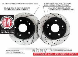 Front and Rear Kit Performance Drilled & Slotted Brake Rotors & Ceramic Pads