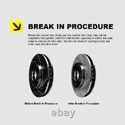 Full Kit Black Hart Drill/slot Brake Rotors & Pads
