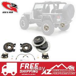 G2 Axle & Gear Rear Disc Brake Conversion Kit with Rotors 87-06 Jeep TJ LJ YJ XJ