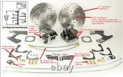 GM 10 & 12 Bolt Rear Disc Brake Kit Drilled Slotted Rotors Chevelle, Cutlass GTO