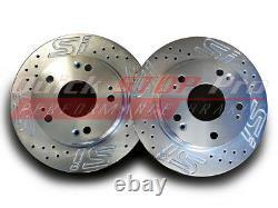 HON015SC Civic SI Coupe Sedan 06-15 Front Rear Performance Brake Rotors SI Logo