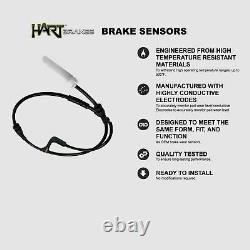 Hart Brakes Front Rear Silver Drilled/Slotted Brake Rotors + Ceramic Brake Pads