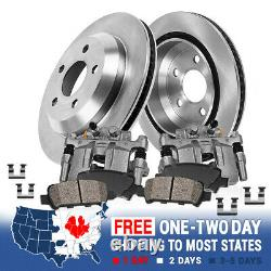 Rear Brake Calipers Rotors Pads For 2000 2001 2002-2004 Ford Excursion F250 F350