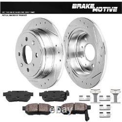 Rear Drilled Brake Rotors And Ceramic Pads For Integra Honda Civivc CRX Prelude