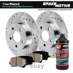 Rear Drilled Brake Rotors and Ceramic Pads For Nissan Altima Juke Maxima Sentra