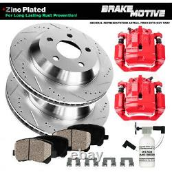Rear Red Brake Calipers And Rotors + Pads For Ford Explorer Ranger Mountaineer