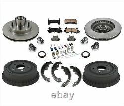 Rotors Brake Pads Drums Shoes Springs Bearings for Chevrolet Camaro 82-92 15Pc