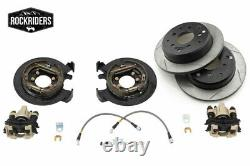 G2 Essieu & Gear Rear Disc Brake Conversion Kit With Rotors 1987-06 Jeep Tj Lj Yj Xj