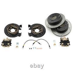 G2 Essieu & Gear Rear Disc Brake Conversion Kit With Rotors 87-06 Jeep Tj Lj Yj Xj
